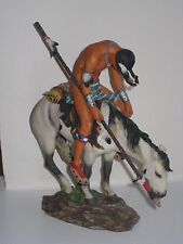 Resin Figure on a Horse 8""