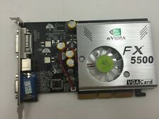 NEW NVIDIA GeForce DDR 256MB FX 5500 8x AGP VGA Video Graphic Card /w DVI TV Ou
