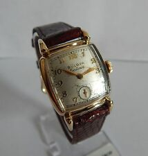 1950s Handwound Clean Vintage Bulova Excellency 10K GF 21 Jewel Mens Wristwatch