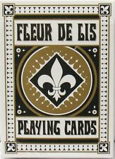 Fleur De Lis Playing Cards Deck Bicycle New - Black & Gold