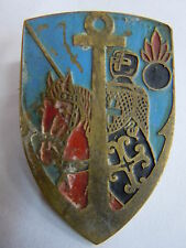 Insigne RACL LEVANT Artillerie Coloniale ORIGINAL WWII 40 mm laiton cheval rouge