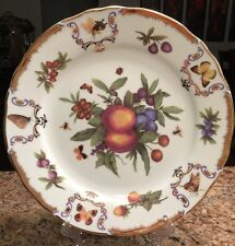 Victoria Royale Dinner Plate Ornate Gold Trim Highly Decorated Butterflies Fruit