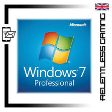 MICROSOFT WINDOWS 7 PRO 64 / 32 BIT GENUINE PRODUCT KEY SERIAL CODE - INSTANT!