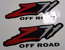 Z71  off road stickers decal, red and gray,silverado  tahoe ( 2 SET )