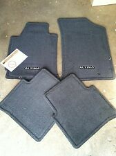 NEW OEM 2008-2012 NISSAN ALTIMA BLACK/CHARCOAL 4PC CARPET FLOOR MAT SET