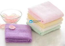 100% Bamboo Fiber Baby Bath Face Towels Soft Anti-microbial Hand Washcloth