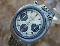 Citizen Bullhead Japanese Automatic Watch c1970 with Famous Panda Dial T2K22