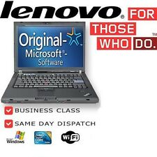 "Cheap Student Laptop Lenovo Thinkpad T60 14"" Core Duo 2GB 80GB Windows 7 Genuine"