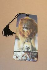 New 3D Lenticular Bookmark - LION - with Tassle - Image Pops Right Out