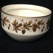 WEDGWOOD AUTUMN VINE SUGAR BOWL ONLY **NO LID** BROWN GRAPES LEAVES GOLD TRIM