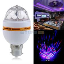 B22 3W RGB LED Crystal Ball Bulbs Rotating Stage Light Disco Party Bar Lamp New