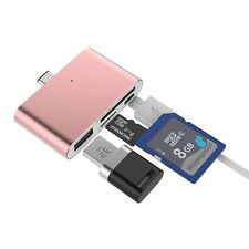 Rose Gold USB Type-C Hub For MacBook With microSD/SD Card Reader USB Type A