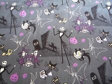 disney  nightmare before christmas on grey    100% cotton fabric  FQ