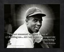 """JACKIE ROBINSON ~ 8x10 Color Pro Quote Photo Picture ~ Framed 9x11 ~ """"Respect"""""""