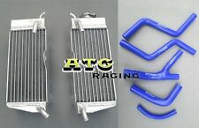 Aluminum Radiator & Hose for Honda CR250 CR 250 R CR250R 1985 1986 1987 85 86 87