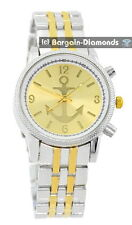 men's 2 tone anchor theme dial business clubbing watch bracelet unisex ladies