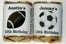 60 SOCCER FOOTBALL BIRTHDAY PARTY CANDY WRAPPERS FAVORS
