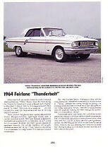 1964 Ford Fairlane Thunderbolt 427 Article - Must See !!