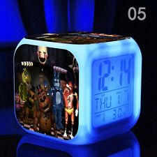7 Colors Alarm Clock FNAF Five 5 Nights at Freddy's LED Alarm Clock hot Style