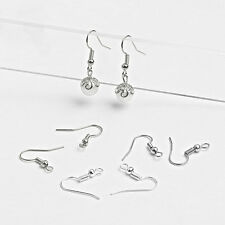 100PCS Jewelry Making Findings Sterling Silver Earring Hook Alloy Ear Wire