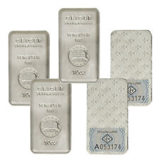 10 oz Geiger Security Line Silver Bars - 50 oz Total (.999 New, Lot of 5)
