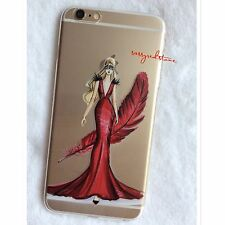 FASHIONISTA IPHONE 7 SOFT CLEAR CASE - RED MASQUERADE