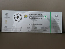 TICKET : DYNAMO KIEV - PANATHINAIKOS 25-11-1998 CHAMPIONS LEAGUE