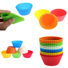 12 pièces/set Silicone Cupcake Chocolat Cuisson Moule Muffin Tasse Multi-Color