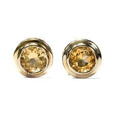 Fines citrin Boucles D'OREILLE en plaque argent Boucles d'oreilles/silver citrine earrings