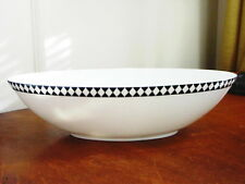 Jasper Conran Wedgwood MOSAIC BLACK Oval Vegetable / Serving Bowl - NEW!