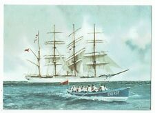 "CORNISH POST CARD ART CARD BY TONY WARREN TITLED ""ROWING FOR HOME"""