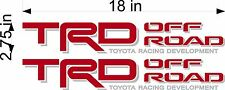 TOYOTA RED/SILVER TRD Off Road Decals / PAIR / truck bed graphics sticker decal