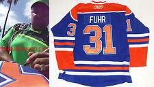 GRANT FUHR SIGNED EDMONTON OILERS JERSEY *COA* AUTHENTIC AUTOGRAPH HALL OF FAME