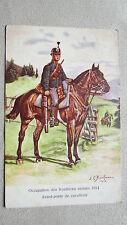 CPA J.C.Kaufmann. Occupation des frontières suisses 1914. Cavalerie (cavallerie)