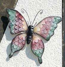 G2138: Wanddeko Schmetterling im Landhaus Stil, Gartenfigur Falter, Eisen