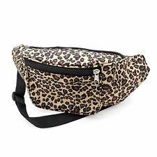 Brown Animal Leopard Print Bum Bag Fanny Pack Festival Holiday Money Accessories