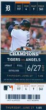 2013 Tigers vs Angels Ticket: Albert Pujols10th-inning double/Mike Trout 4 Hits