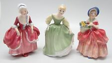 3 x Vintage ROYAL DOULTON Lady Figurines Cissie, Fair Maiden & Goody Two Shoes