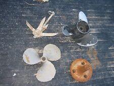 4 pcs. Assorted Used Boat Aluminum Cast Iron Anchor Brass Aluminum Propeller ???