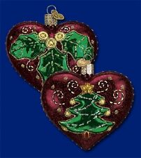 """""""Quilted Christmas Heart"""" (30025) Old World Christmas Glass Ornament"""