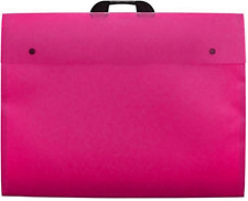 A3+ DESIGN FOLIO PINK CARRY CASE FILE FOLDER ARTIST PORTFOLIO SCHOOL COLLEGE
