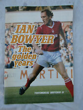 TESTIMONIAL MAGAZINE IAN BOWYER THE GOLDEN YEARS 1967