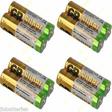 8 x AA GP Super Alkaline Batteries LR6 15A 1.5V DATED 2021 battery