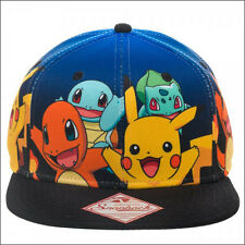 Nintendo Pokemon Pikachu Charizard Squirtle Bulbasaur Snapback Cap Hat OFFICIAL