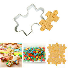 Shape Puzzle Fondant Cookie Mold Cutter Cake Decorating Outil acier inoxydable