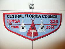 OA 326 Tipisa F-7?,1946 -2016,70th Ann Lodge LBL Flap,Central Florida Council,FL