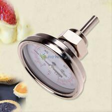 "1/2"" NPT Stainless Steel Oven Cooking BBQ Thermometer Food Meat Gauge 250°C NEW"