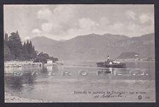 COMO TREMEZZO 09 PIROSCAFO - BATTELLO - LAGO Cartolina viaggiata 1916