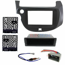 Radio Replacement Dash Install Kit 2-DIN Pocket & Harness/Antenna for Honda