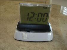 Calendar Alarm Clock with Indoor Temperature Timer 5 x 4 in Illuminated